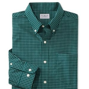 L.L. Bean Traditional Fit Check Shirt Wrinkle Free